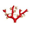 billige Motebrosjer-Dame Kubisk Zirkonium Vintage Stil / Elegant Nåler - Blomster Tema, Kreativ Vintage, Mote, Chinoiserie Brosje Rød Til Bryllup / Daglig