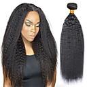 povoljno Ekstenzije od prave kose prirodne boje-3 paketi s zatvaranjem Indijska kosa Yaki Straight Ljudska kosa Ljudske kose plete Produžetak Bundle kose 8-28 inch Prirodna boja Isprepliće ljudske kose proširenje Najbolja kvaliteta Novi Dolazak