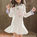tanie Zestawy ubrań dla dziewczynek-Dzieci Dla dziewczynek Podstawowy Geometric Shape / Kolorowy blok Długi rękaw Sukienka