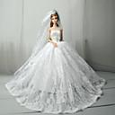 preiswerte Zubehör für Puppen-Hochzeit Kleider Für Barbiedoll Spitze / Satin Kleid Für Mädchen Puppe Spielzeug