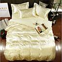 זול כיסוי שמיכות מוצק-סטי שמיכה פאר polyster ג'אקארד 4 חלקיםBedding Sets / 400 / 4 יחידות (1 כיסוי שמיכה, 2 כיסוי כרית, 1 סדין)