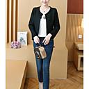 cheap Women's Slippers & Flip-Flops-Women's Daily Street chic Short Jacket, Contemporary Round Neck Long Sleeve Polyester Black / Pink / Beige XXL / XXXL / 4XL