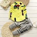 ieftine Pantaloni Băieți-Bebelus Băieți Casual / De Bază Zilnic / Gril pe Kamado  Alb negru Houndstooth / Carouri Manșon Lung Regular Regular Bumbac Set Îmbrăcăminte Roz Îmbujorat / Copil