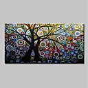 halpa Öljymaalaukset-Hang-Painted öljymaalaus Maalattu - Abstrakti / Kukkakuvio / Kasvitiede Klassinen / Moderni Kangas