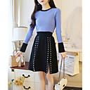 זול עגילים אופנתיים-חצאית אחיד - סוודר בגדי ריקוד נשים