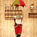 tanie Naklejki ścienne-Ozdoby świąteczne Święto Materiał bawełniany Kwadrat Zabawne Świąteczna dekoracja