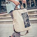 hesapli Sırt Çantaları-Unisex Çantalar Tuval sırt çantası Tema / Baskı için Günlük İlkbahar & Kış / İlkbahar yaz Beyaz