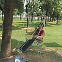 ieftine Others-Hamac de Camping În aer liber Cablu de cânepă pentru Camping / Școală / Călătorie - 1 persoană Trifoi