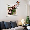 baratos Adesivos de Parede-Autocolantes de Parede Decorativos - Etiquetas de parede de animal Animais Sala de Estar / Quarto / Banheiro