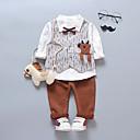 ieftine Pantaloni Băieți-Bebelus Băieți Vintage Mată / Dungi Manșon Lung Bumbac Set Îmbrăcăminte / Copil