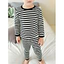 זול הלבשה תחתונה וגרביים לתינוקות-לבוש שינה חצי שרוול אחיד בנות תִינוֹק