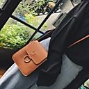 cheap Crossbody Bags-Women's Buttons PU Shoulder Messenger Bag Black / Brown / Green