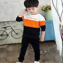tanie Spodnie dla chłopców-Dzieci Dla chłopców Aktywny Kolorowy blok Długi rękaw Bawełna Komplet odzieży
