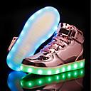 tanie Obuwie dziewczęce-Dla dziewczynek Obuwie PU Jesień & zima Wygoda / Świecące buty Tenisówki LED na Złoty / Srebrny / Różowy