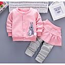 ieftine Set Îmbrăcăminte Bebeluși-Bebelus Fete De Bază Mată / Bloc Culoare Peteci Manșon Lung Bumbac Set Îmbrăcăminte