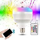 olcso LED okos izzók-KWB 1db 12 W 1200 lm E26 / E27 Okos LED izzók G95 28 LED gyöngyök SMD Smart / Bluetooth / Tompítható RGBW 100-240 V