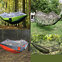 cheap Camping Furniture-Camping Hammock with Mosquito Net Outdoor Portable, Moistureproof, Well-ventilated Spinning Cotton for Camping / Hiking / Hunting / Hiking