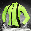 cheap Earrings-WOSAWE Cycling Jacket Bike Softshell Jacket Windproof, Breathable, Thermal / Warm Solid Color Polyester, Fleece Winter Green Advanced Mountain Cycling Relaxed Fit Bike Wear / Stretchy