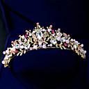 tanie Imprezowe nakrycia głowy-Kryształ / Kryształ górski / Stop Tiary z Sztuczna perła / Kryształ / Rhinestone 1 sztuka Ślub / Urodziny Winieta