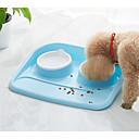 זול קערות כלבים & האכלה-0.4 L כלבים / חתולים כלי הזנה / אחסון מזון חיות מחמד & קערות האכלה מרובה שכבות / יום יומי\קז'ואל ירוק / כחול / ורוד