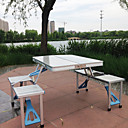 cheap Camping Furniture-Camping Folding Chair / Camping Table Outdoor Portable, Lightweight, Folding Aluminum Alloy for Camping / Travel - 3 - 4 person Silver