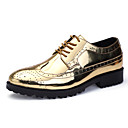 cheap Men's Oxfords-Men's Formal Shoes PU(Polyurethane) Fall Oxfords Gold / Silver / Party & Evening