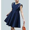 זול שמלות לבנות-שמלה ללא שרוולים פרחוני פעיל בנות ילדים