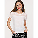 cheap Anklet-Women's Going out Cute Street chic Slim T-shirt - Solid Colored, Lace
