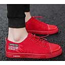 tanie Spacery-Męskie Komfortowe buty PU Wiosna Adidasy Czarny / Czerwony