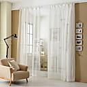 baratos Cortinas Transparentes-Sheer Curtains Shades Quarto Riscas Poliéster Jacquard