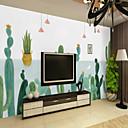 preiswerte Wand-Sticker-Tapete / Wandgemälde Segeltuch Wandverkleidung - Klebstoff erforderlich Bäume / Blätter / Muster / 3D