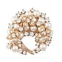 preiswerte Armbänder-Damen Stilvoll Broschen - Künstliche Perle Blattform Süß, Elegant Brosche Gold Für Verabredung / Festival