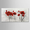 povoljno Ulja na platnu-Hang oslikana uljanim bojama Ručno oslikana - Cvjetni / Botanički Moderna Bez unutrašnje Frame / Valjani platno