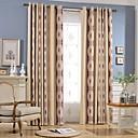 cheap Curtains & Drapes-Blackout Curtains Drapes Bedroom Stripe Chenille Jacquard