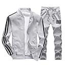 זול טבעות לגברים-עומד קולור בלוק activewear הגדר שרוול ארוך בסיסי ספורט בגדי ריקוד גברים