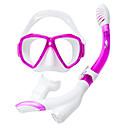 baratos Mascaras de Mergulho, Snorkels & Pés de Pato-TUO Kit para Snorkeling / Pacotes de Mergulho - Máscara de mergulho, Snorkel - Anti Neblina, À prova de explosão, Snorkel Seco Natação,