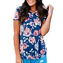 billige Negleglitter-T-skjorte Dame - Blomstret Ut på byen