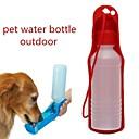 זול קערות כלבים & האכלה-0.03-0.05 L כלבים / חתולים קערות ובקבוקי מים חיות מחמד & קערות האכלה נייד / חוץ אדום / כחול / ורוד