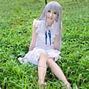 abordables Disfraces de Anime-Inspirado por Cosplay Honma Meiko Animé Disfraces de cosplay Vestidos Color sólido Sin Mangas Vestido Para Mujer