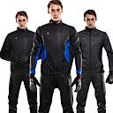 cheap Smart Plug-SPAKCT Men's Cycling Jacket with Pants Bike Winter Fleece Jacket / Clothing Suit Windproof Solid Colored Black / Dark Gray / Blue / Black Bike Wear / YKK Zipper