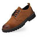 olcso Modern cipők-Férfi Nappa Leather Ősz & tél Kényelmes Félcipők Szürke / Barna / Katonai zöld