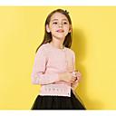 preiswerte Pullover & Strickjacken für Mädchen-Kinder Mädchen Grundlegend Geometrisch Langarm Standard Polyester Pullover & Cardigan Rosa