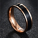 cheap Men's Bracelets-Couple's Classic Couple Rings Band Ring - Titanium Steel Creative Stylish, Simple, Classic 7 / 8 / 9 / 10 White / Black For Daily Date