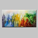 halpa Abstraktit maalaukset-Hang-Painted öljymaalaus Maalattu - Abstrakti Maisema Moderni Sisällytä Inner Frame / Venytetty kangas