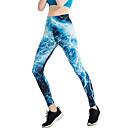 hesapli Atletik Giysiler-Aktif Giyim Tozluk ve Taytlar Kadın's Eğitim / Performans Elastik / Şarmöz Tema / Baskı / Gore Yüksek Pantalonlar