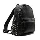 رخيصةأون مجموعات حقائب-للمرأة أكياس PU حقيبة ظهر برشام أسود