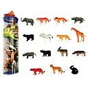 olcso Állat akcióhősök-Állatok cselekvési számok Elefánt Oroszlán Zebra Állatok Gumi Gyermek Összes Fiú Lány Játékok Ajándék 15 pcs