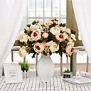 رخيصةأون زهور اصطناعية-زهور اصطناعية 1 فرع كلاسيكي / فردي الزفاف / Wedding Flowers الفاوانيا أزهار الطاولة