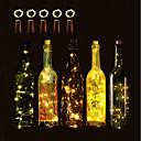 olcso Asztali dekor lámpa-BRELONG® 5pcs Boros palackzáró LED éjszakai fény Meleg fehér / Fehér / Piros Akkumulátoros gomb Kreatív / Esküvő / Díszítmény <5 V