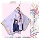 זול תחפושות אנימה-קיבל השראה מ Vocaloid שלג Miku 2018 אנימה תחפושות קוספליי חליפות קוספליי פתית שלג חצאיות / מעיל / עליון עבור בגדי ריקוד נשים תחפושות ליל כל הקדושים